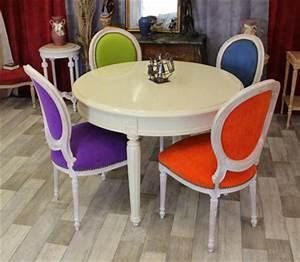 Chaise Moderne Avec Table Ancienne : les meubles nayar fabricant de chaises m daillon de style louis xvi ~ Teatrodelosmanantiales.com Idées de Décoration