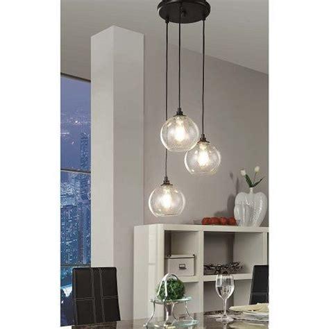3 Light Dining Room Light by Pendant Light 3 Light Cluster Black Clear Glass Dining