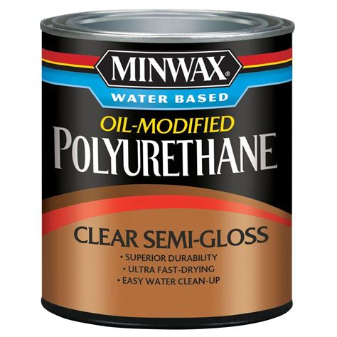 Minwax 8 Oz Clear Semigloss Water Based Oilmodified