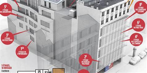 ump siege infographie l 39 étage sarkozy l 39 étage copé visite