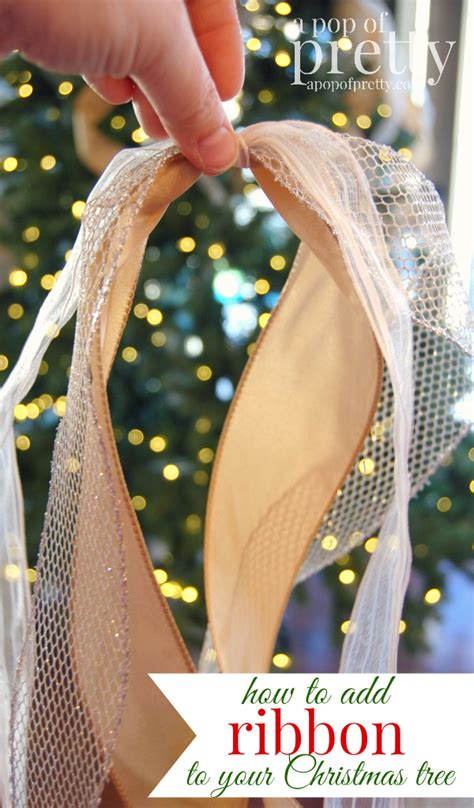 christmas decorating tip how to add ribbon to your tree