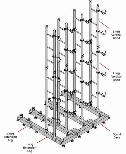 Truss Vertical Stand Base Short Construction Lighting