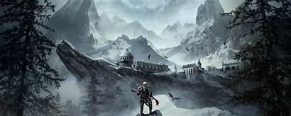 Scrolls Elder Warrior Background Wide Dual