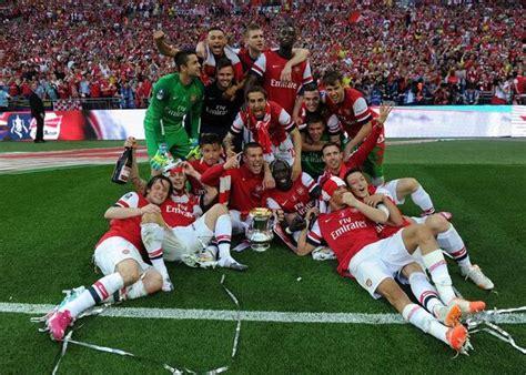 Pic - Arsenal team celebrating their FA Cup triumph ...