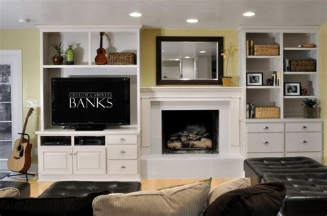 white entertainment center  side   fireplace living room inspiration bedroom