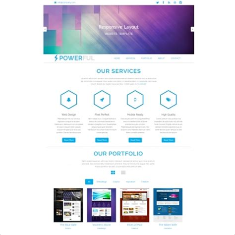Free Bootstrap Website Templates by Powerful Bootstrap Template Free Website Templates In Css