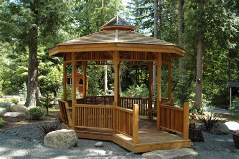 wood and iron table how to create a comfortable gazebo at home home garden