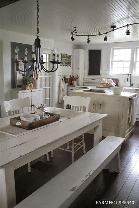 white farmhouse table ideas  pinterest rustic