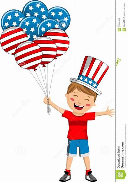 Flag Usa Uncle Sam Balloons Clipart Cartoon