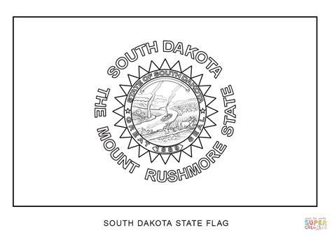 south dakota state flag coloring page  printable