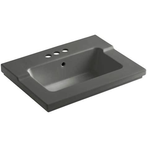 Kohler Tresham Sink Dimensions by Kohler Tresham 25 7 16 In Vitreous China Single Basin