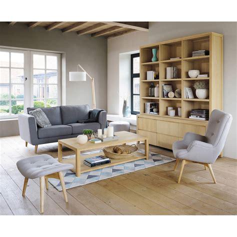 canapé vintage maison du monde fauteuil scandinave en tissu gris clair fauteuil vintage