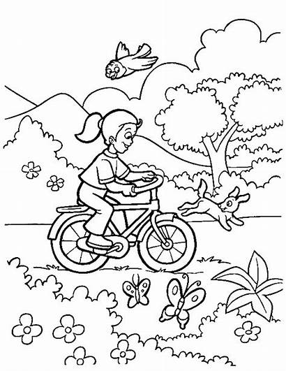 Spring Coloring Season Pages Colouring