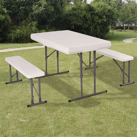 Picnic Table Bench Kit by Table And Benches Set Chair Seat Folding Picnic Patio