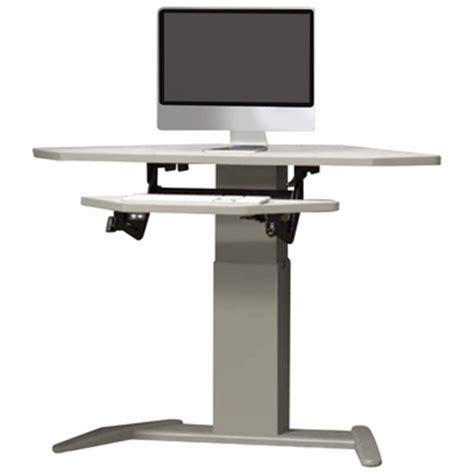 vl2 series standing desk shop mayline varitask e series with datacenter keyboard