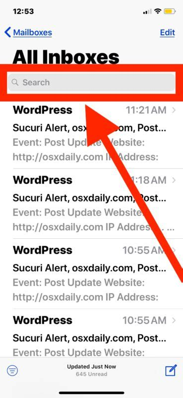 search email on iphone how to search email on iphone and mail