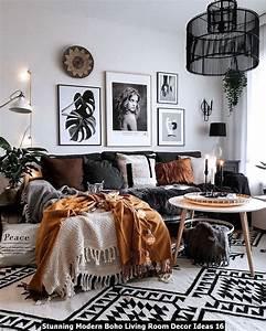 Stunning, Modern, Boho, Living, Room, Decor, Ideas