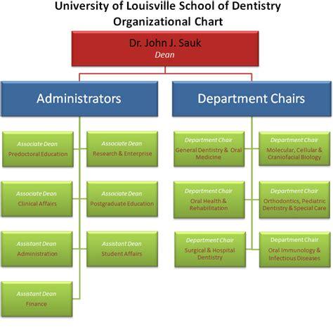 organizational chart school  dentistry