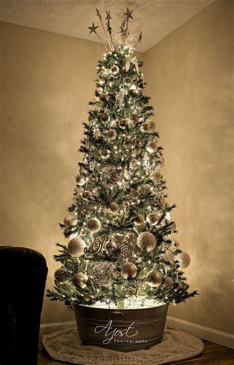 galvanized for christmas tree rustic christmas trees galvanized steel and christmas trees on pinterest