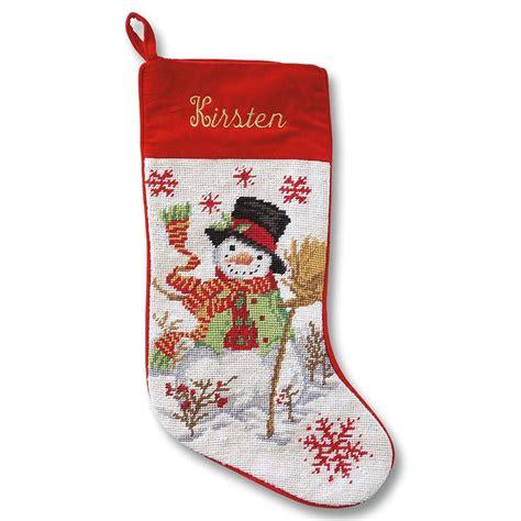 snowmen needlepoint stocking lillian vernon