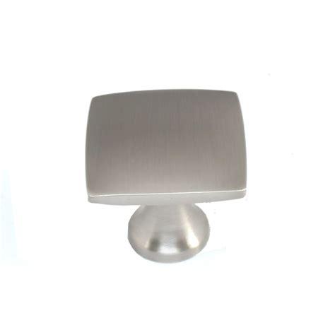 square kitchen cabinet knobs shop allen roth brushed satin nickel square cabinet knob
