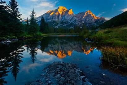 Lake Canada Alberta Mountains Reflection Nature Mountain