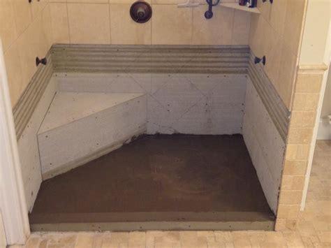bathroom how to build a shower pan custom shower base