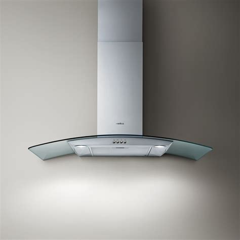 hotte elica 80 elica circus 900mm stainless steel and curved glass chimney extractor fan cooker