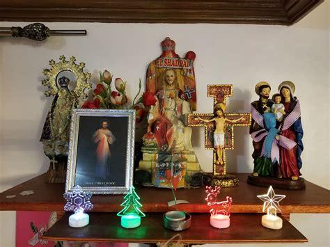 catholic filipino home altar  typical catholic altar