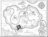 Treasure Map Coloring Pages Printable Europe Pirate Getdrawings Getcolorings Colorings sketch template