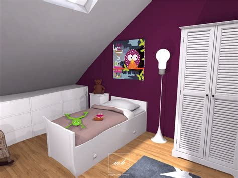 chambre fille beautiful idee chambre bebe mansardee 2 photos design
