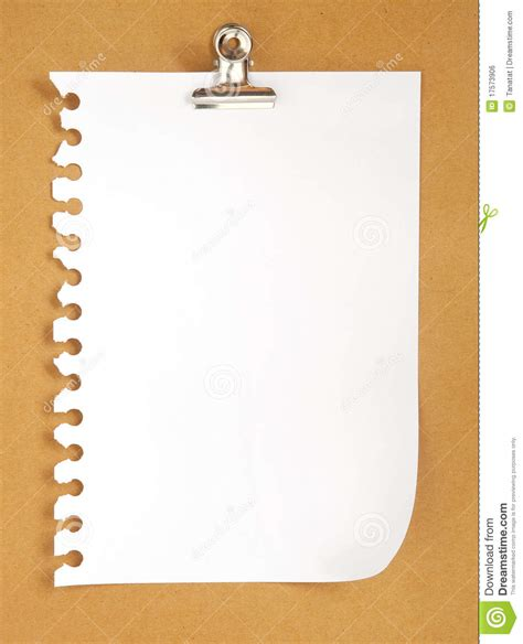 blank note paper  cardboard background stock photo