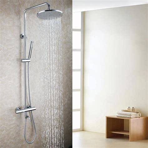 exposed bath thermostatic shower mixer faucet set