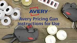 Avery Pricing Gun Instructions
