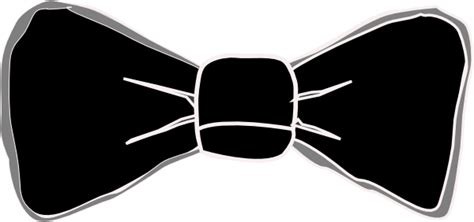 black  grey bow tie clip art  clkercom vector clip
