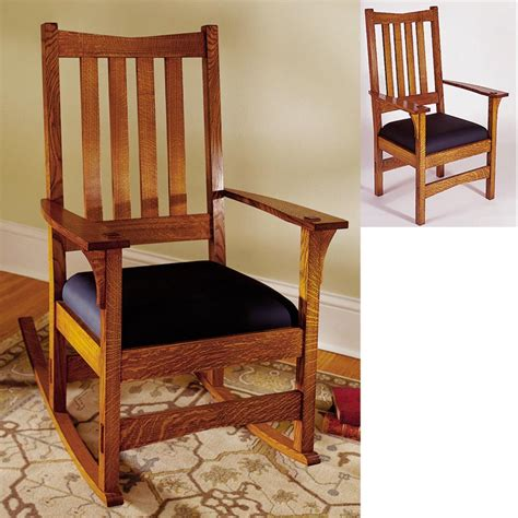 arts  crafts chairrocker woodworking plan