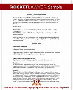 business purchase agreement contract form with template With business buyout agreement template