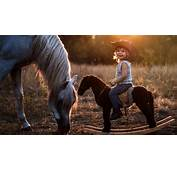 2560x1440 Cute Boy On Horse FHD Wallpapers