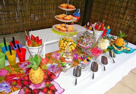 Tropical Theme : Tropical Hawaiian Themed Dessert Buffet.