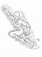 Torch Human Deviantart Fantastic Coloring Kaufee Four sketch template
