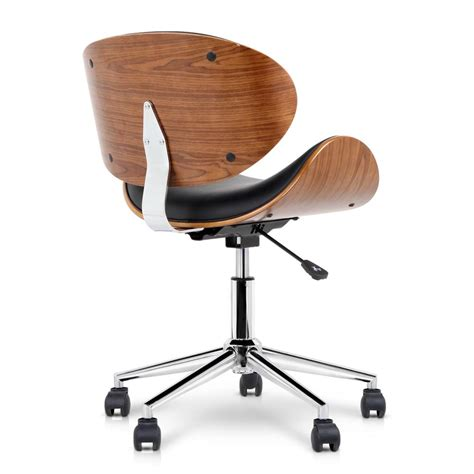 123 26 pu leather curved office chair black