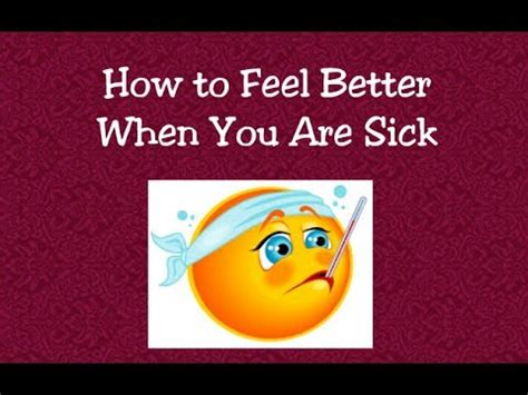 #351 How To Feel Better When You Are Sick  Lambcam Youtube
