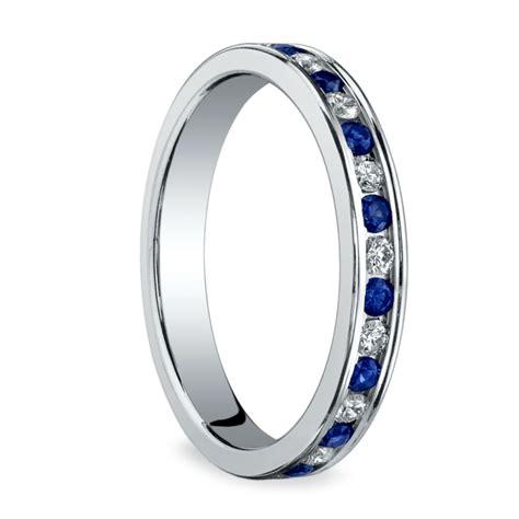diamond sapphire eternity ring  white gold