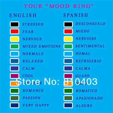 mood ring colors meanings 52 what are the mood colors for a mood necklace mood