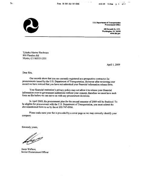 fraudulent letters  trucking companies seek banking