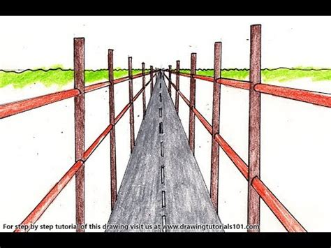 How to Draw a One Point Perspective Bridge Step by Step ...