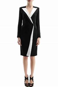 beautiful black and white robe manteau roland mouret With manteau robe