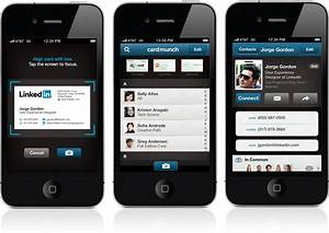 Linkedins new cardmunch iphone app reinventing business for Linkedin business card app