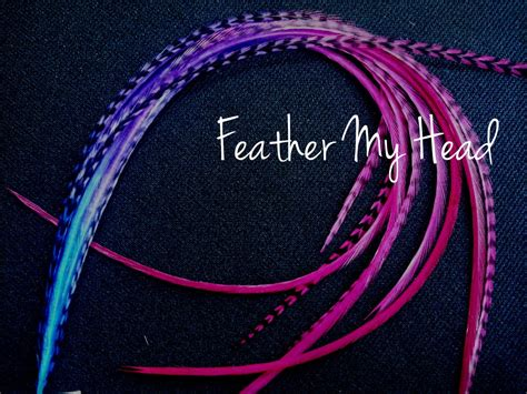 Feather Hair Extensions Multi Colored Ombre Tye Dye Fade