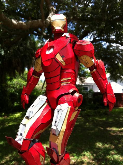 wrightworks completed papercraft iron man